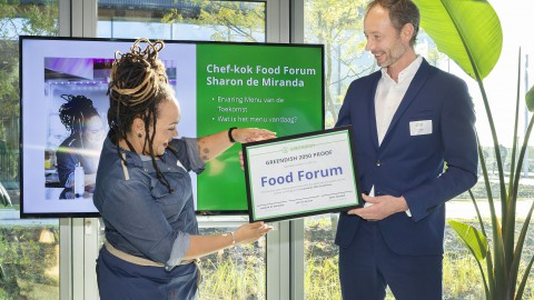 Food Forum ontvangt als eerste Greendish certificaat