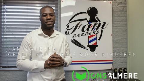 Fam Barbers Knip actie voor kinderen van 4 tot en met 14 jaar!