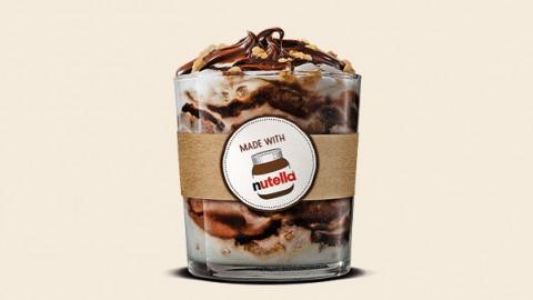 Burger King maakt dromen waar en lanceert Nutella ijs!