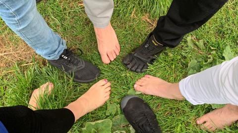 Barefoot wandeling Beatrixpark Almere