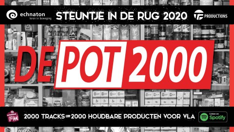 Echnaton met 'De Pot 2000' in actie voor Voedselbank Almere