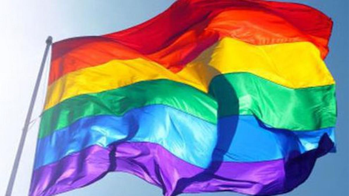 Regenboogvlaggen op Almeerse gebouwen vanwege Coming Out Day