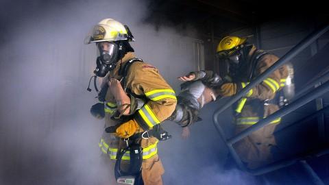 Grote brandoefening WTC