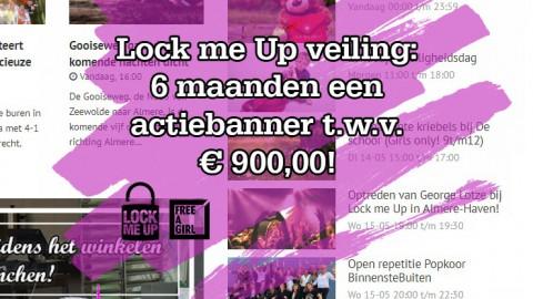 Bied mee voor Lock me Up op 6 maanden advertentietegoed t.w.v. € 900,00