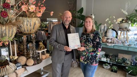 Aktief Bloemsierkunst eerste gecertificeerde duurzame bloemist in Almere!