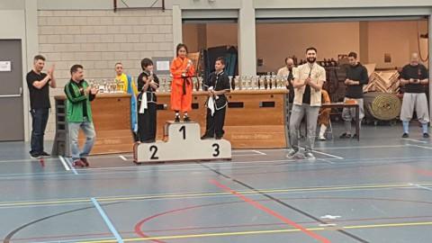 Shaolin kung fu school uit Almere bij het Nederlands kampioenschap shaolin kung fu