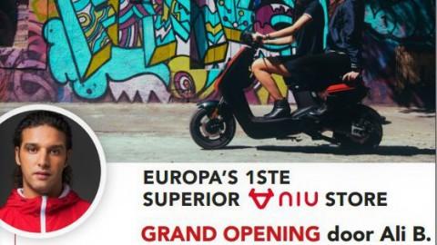 Opening eerste NIU Superior Store van Europa morgen met Ali B!