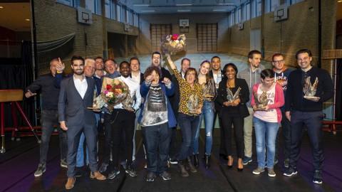 Steven Bergwijn en Lilian de Geus Almeers sportman en sportvrouw van 2018