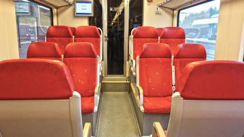 Minder treinen van en naar Schiphol