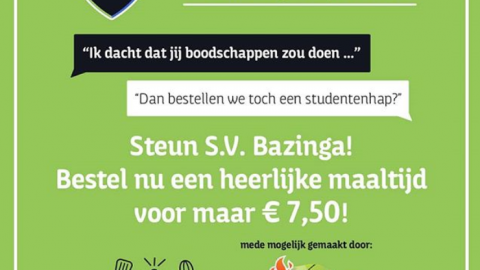 Studentenvereniging Bazinga! bezorgt
