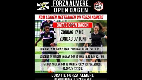 Forza Almere organiseert zondag een Open Dag!