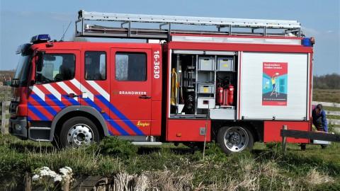 Brandje in schuur in Almere Buiten