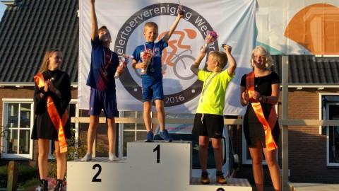 Stijn Beekman (7) won afgelopen vrijdag de Ronde van Westbroek!