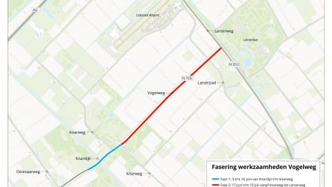 Inloop werkzaamheden Slingerweg (Zeewolde) en Vogelweg (Lelystad)